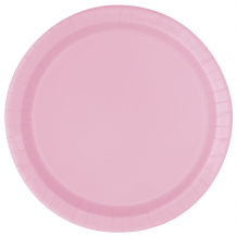 "Small Lovely Pink Plates - 7"" Paper Plates (20pcs)"